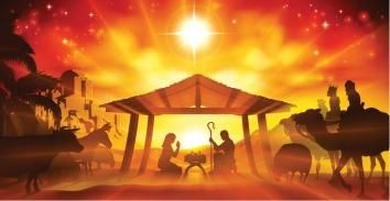 christmas-nativity-scene-vector-id595745820